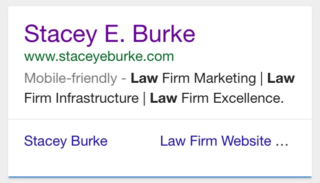 Stacey E. Burke Mobile Friendly Website